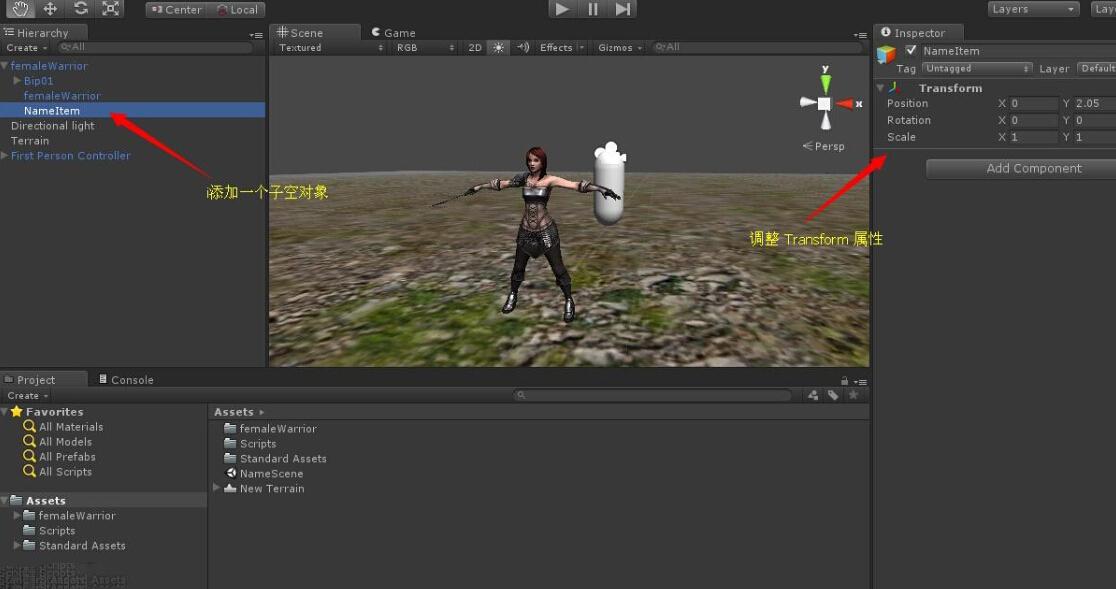 Unity3D 游戏开发使用TextMesh 显示角色名字实现- Unity3d技术
