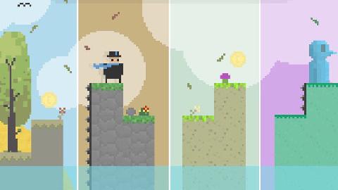 框架式高优化2D无尽全平台跳跃游戏